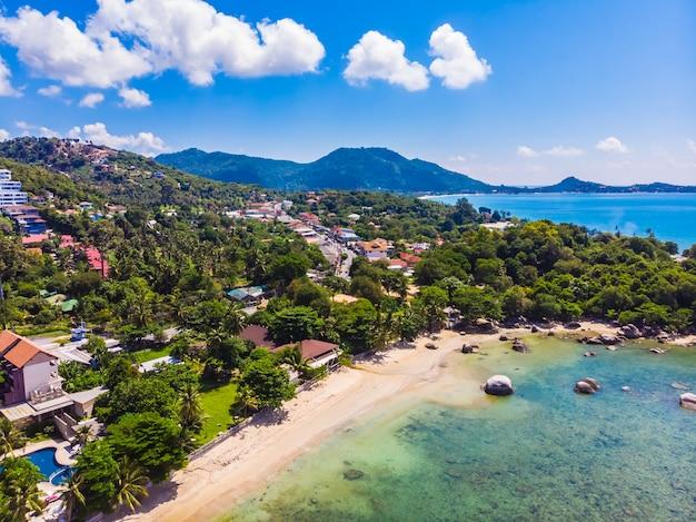 Красивый вид с воздуха на пляже