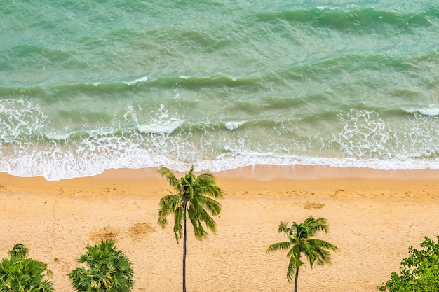 Beautiful aerial view of tropical beach sea