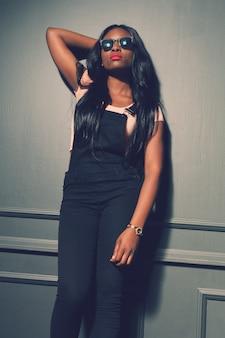 Beautiful african american girl posing
