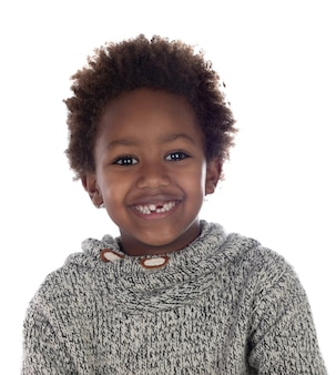 Beautiful afro-american child without some teeth