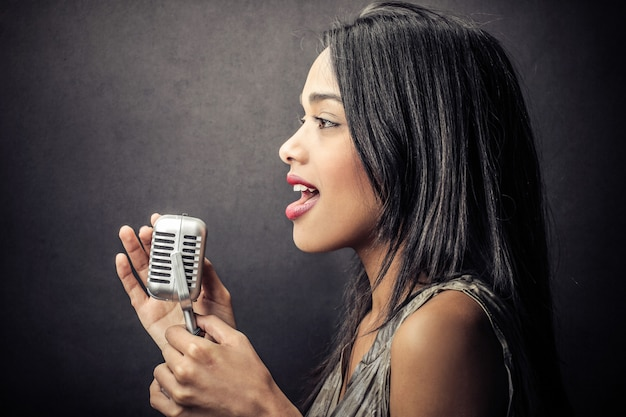 Beautiful afro singer