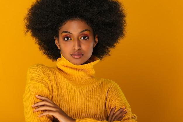 Beautiful afro woman