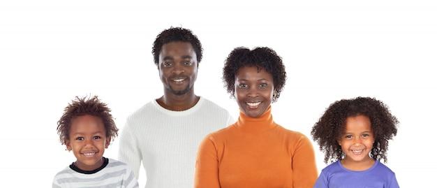 美しいアフリカ系アメリカ人の家族