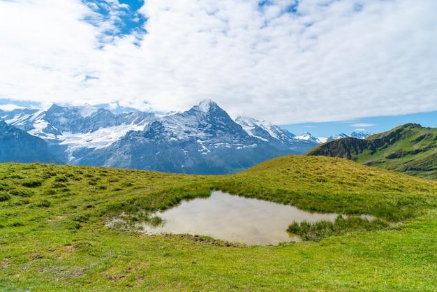 Beautiful alps mountain in grindelwald switzerland