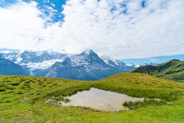 Beautiful alps mountain in grindelwald, switzerland