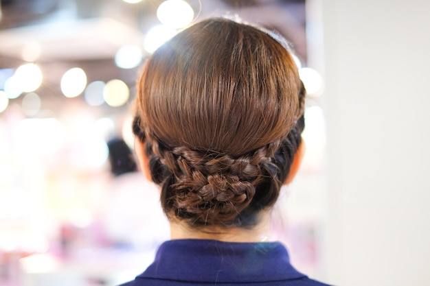 The beautiful amazing woman's hairstyles - haircuts ideas concept.