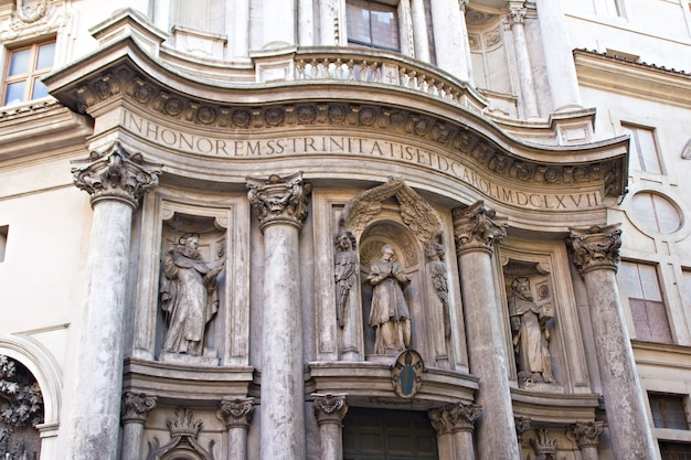 Beautiful ancient architecture in rome, italy