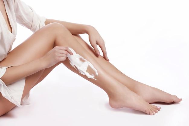 美しく健康な女性の足