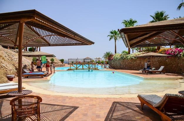 Beautiful arabian day in a hotel of egypt. sharm el-sheikh.