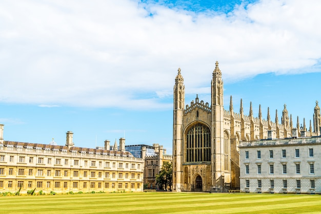 Красивая архитектура в часовне королевского колледжа в кембридже, великобритания