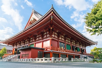 Beautiful Architecture at Sensoji Temple around Asakusa area in Japan