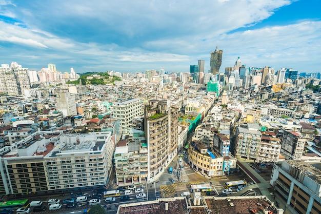 마카오에서 아름 다운 건축 건물 도시 풍경
