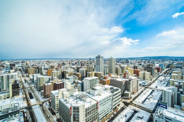 札幌市の美しい建築物街並み