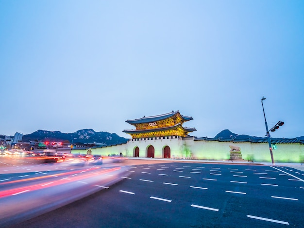 Beautiful architecture building of gyeongbokgung palace