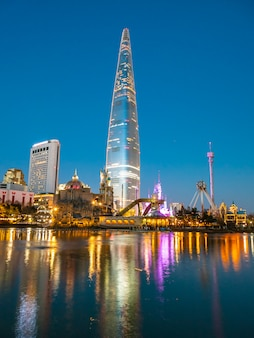 Beautiful architecture building lotte tower