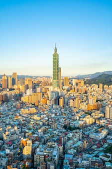 Beautiful architecture building taipei city