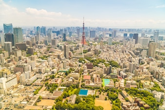 Beautiful architecture building tokyo city with tokyo tower