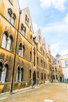 Красивая архитектура крайст-черч собор оксфорд, великобритания