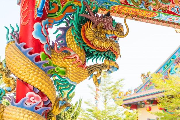 Beautiful architecture at dragon museum in suphanburi