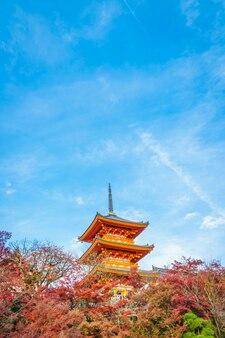 Beautiful architecture in kiyomizu-dera temple kyoto, japan