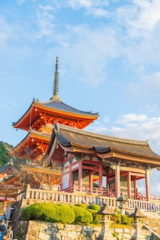 Beautiful architecture in kiyomizu-dera temple kyoto,.