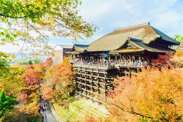 Beautiful architecture in kiyomizu temple at kyoto japan