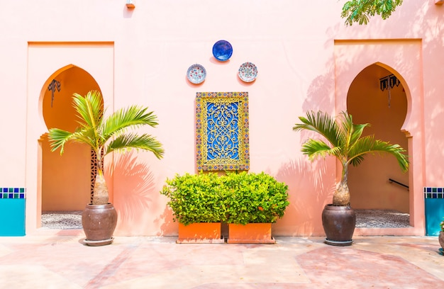 Beautiful architecture morocco style