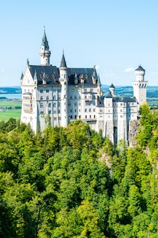 Beautiful architecture at neuschwanstein castle in the bavarian alps of germany.