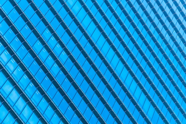Beautiful architecture office building skyscraper with window glass pattern