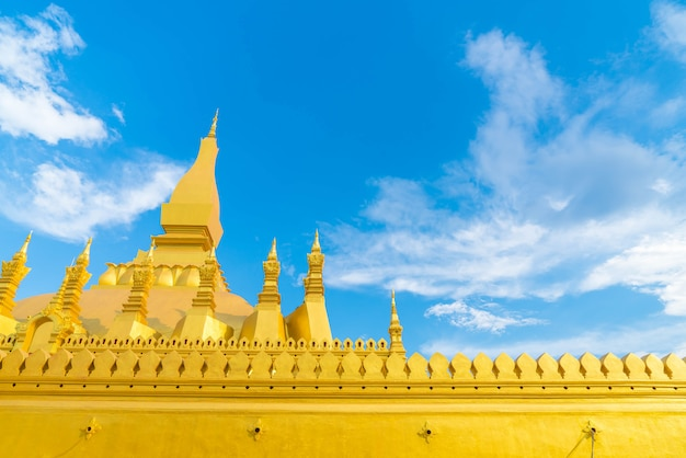 Beautiful architecture at pha that luang,vientiane, laos.