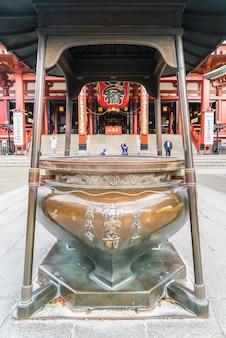 Beautiful architecture at sensoji temple around asakusa area in japan