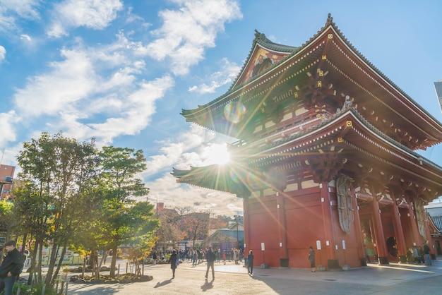 Beautiful architecture in sensoji temple