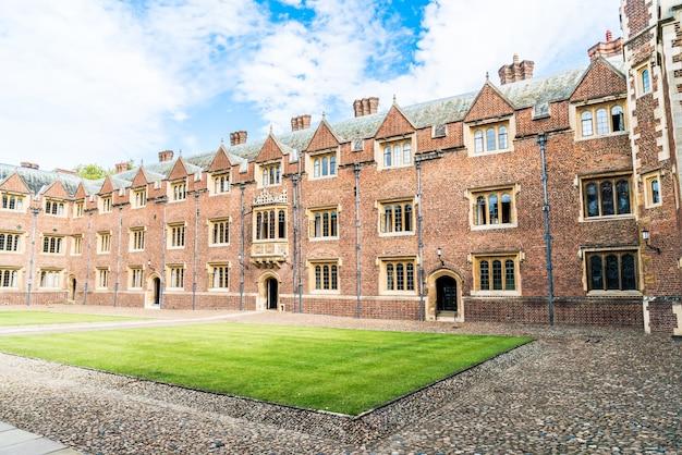Beautiful architecture st. john's college in cambridge, united kingdom.