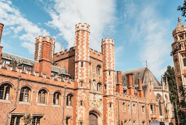 Beautiful architecture st. john's college in cambridge
