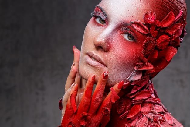 Красивый, художественный макияж
