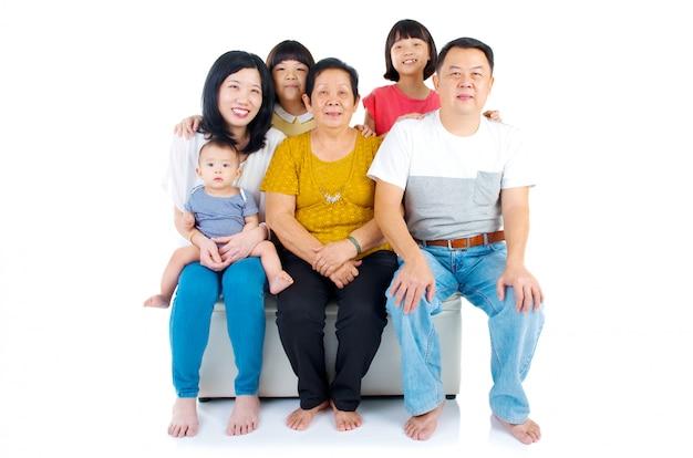 Beautiful asian 3 generations family