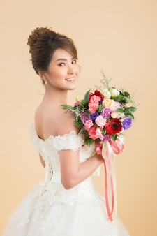 Beautiful asian bride portrait