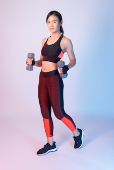 Beautiful asian fitnesses woman