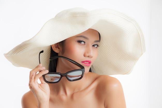 Beautiful asian woman travel concept