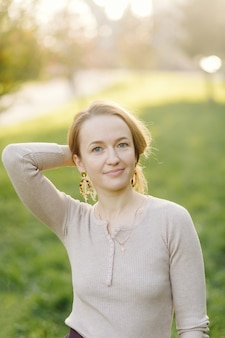Красивый осенний женский портрет