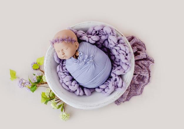 Красивый фон для фотосессии новорожденного