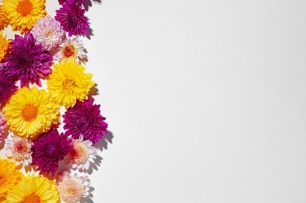 明るい花のつぼみで作られた美しい背景