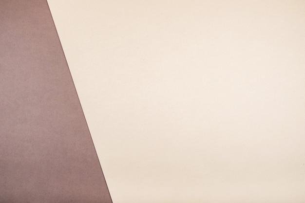 2色の美しい背景。トレンドカラーの組み合わせ。コーヒーとカプチーノ