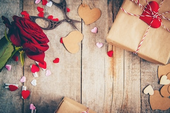 Beautiful background on the theme of love of the holiday and a pleasant mood.