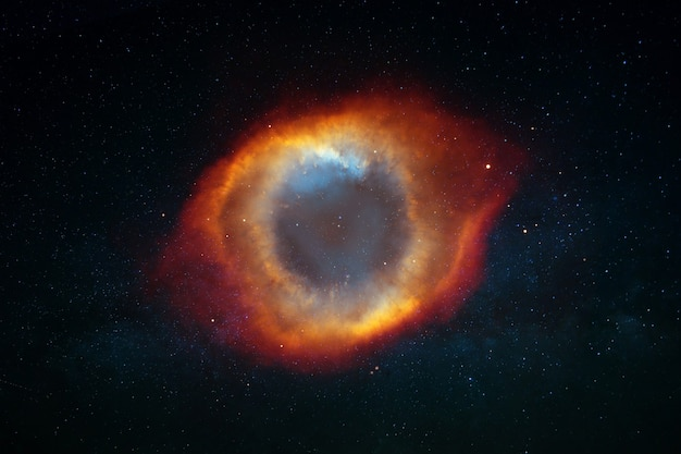 Beautiful background of stars, constellations, milky way and galaxy with cloudy fog in space. amazing space and darkness. eye of the galaxy