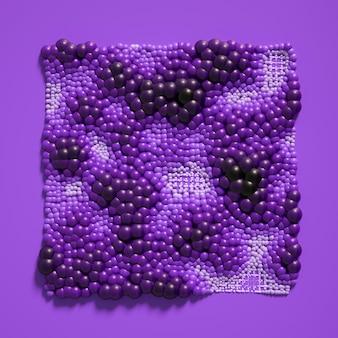 Красивый фон с шариками, наука, молекула, атом. 3d иллюстрации, 3d рендеринг.