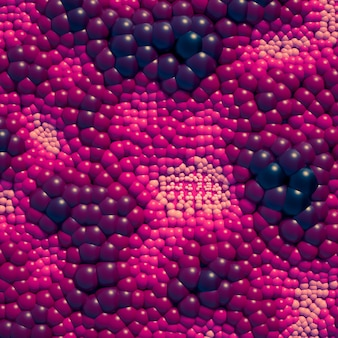 Красивый фон с шариками, наука, молекула, атом. 3d иллюстрации, 3d-рендеринг.