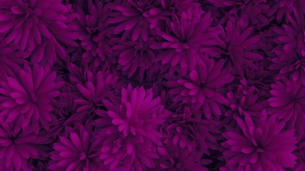 꽃 3d 그림 렌더링 아름 다운 배경