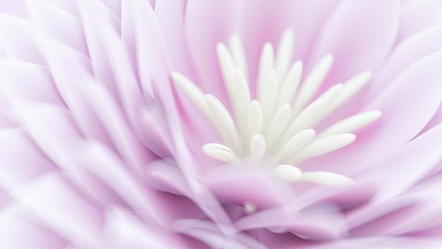 花の3dイラストレンダリングと美しい背景