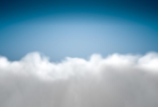 青い空にふわふわの雲と美しい背景